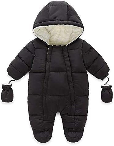 Pasgeboren Baby Meisjes Jongens Snowsuit Hooded Romper Winter Warm Footies Jumpsuit Donsjack Overjas Kleding