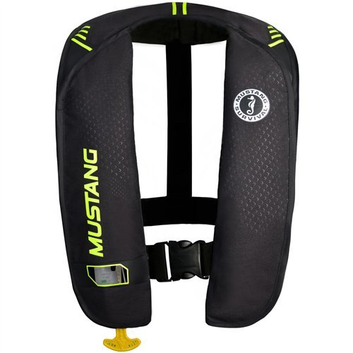 - Mustang Survival Corp M.I.T. 100 Manual Activation PFD, Black/Fluorescent Yellow Green
