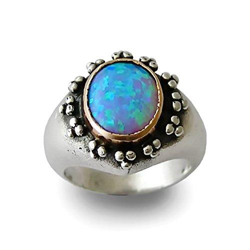 9k Yellow Gold Opal Ring - 5
