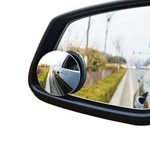 Kitbest Blind Spot Mirror, Convex Car Mirror for Blind Spot, HD Glass Adjustable Wide Angle Mirror, Car Side...
