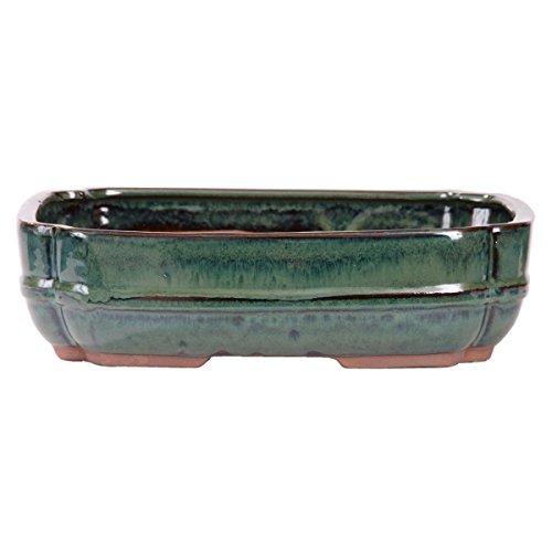 Bonsai - Schale eckig 32 x 24 x 8,5 cm, grün-blaugrün 40009