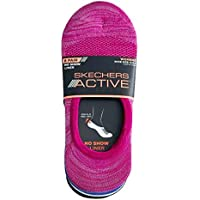 Skechers Women's No Show Liner Active Socks 8 Pairs Non Slip Heel Grip One Size Fits Shoe size 5-9.5 Invisible (Multi…