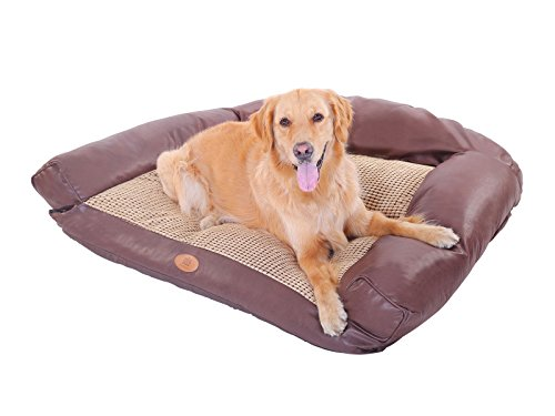 Birdsong PLS Paradise Plush Dog Sofa, Medium, Bolster Dog Bed, Dog Beds, Dog Bed Removable Cover, Dog Beds Medium Dogs