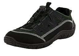 Northside Men\'s Brille II Sandal, Black/Olive, 9 D US