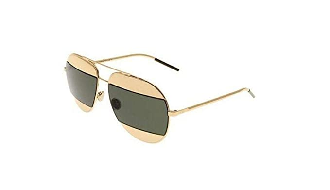 8d4a21fffb26 Image Unavailable. Image not available for. Colour  New Christian Dior  SPLIT 1 000 85 rose gold rose gold grey green sunglasses