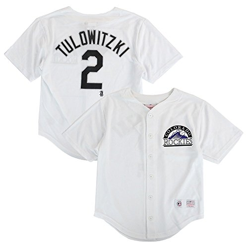 Outerstuff Troy Tulowitzki MLB Colorado Rockies Button Down Home Jersey Youth (XS-2XL) ()