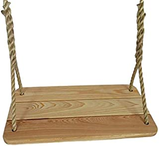 """product image for Wood Tree Swings/ Deluxe Cypress Tree Swing with 12 Feet of Rope Per Side 12"""" Wide"""