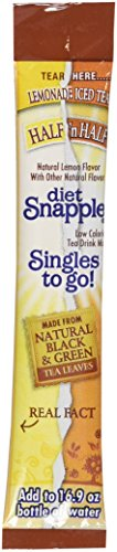 (Snapple Half Lemonade n Half Iced Tea Singles to Go - 3 Boxes - 6 Packets Each)