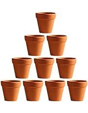 PRETYZOOM Clay pots for Plants Mini Terracotta Small Terra Cotta Pot plant-10Pcs 3x3cm Small Mini Terracotta Pot Clay Ceramic Pottery Planter Cactus Flower Pots
