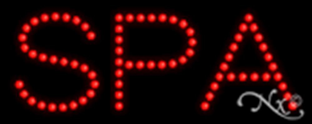 8x20x1 inches Spa Non Flashing LED Window Sign by Light Master (Image #1)