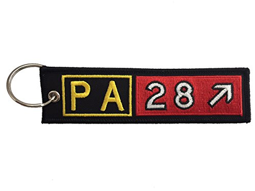 Piper Air - Piper Aircraft PA28 Series Airport Taxiway Sign Embroidered Keychain