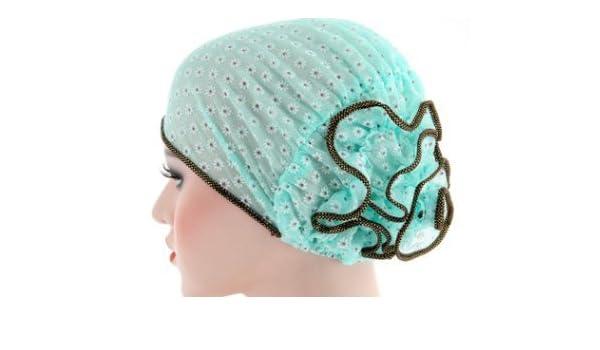 Danapp Hermoso sombrero de flores de doble color, poliéster, Verde, 1: Amazon.es: Hogar