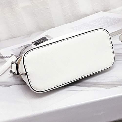Blanc Marron 9 Taille 17cm bandoulière grande 18 Sac Fashion Work Couleur Casual à capacité Canvas z7UU56q