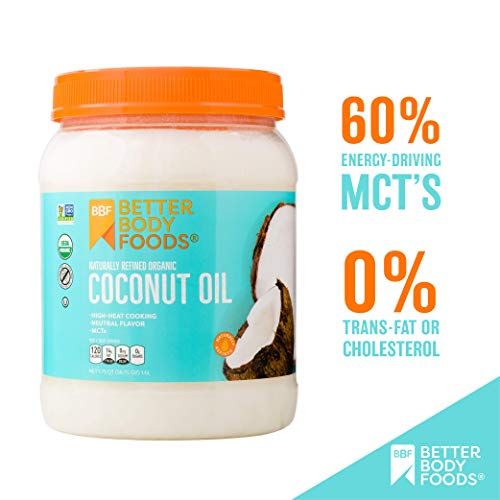 BetterBody Foods Organic Naturally Refined Coconut Oil with Neutral Flavor and Aroma, 56 Ounce 2