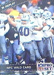 1992 Pro Set #56 NFC Wild Card REPLAY/Bill Bates Near Mint/Mint