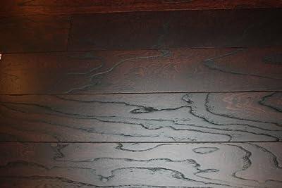"Elk Mountain Elm Toast 3/8"" x 5"" Wire Brushed Engineered Click Lock Hardwood Flooring AF078 SAMPLE"