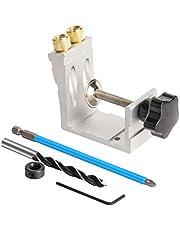 Pocket Hole Jig Kit 15 grados oblicua Puncher Localizador de madera Localizador de plata localizador