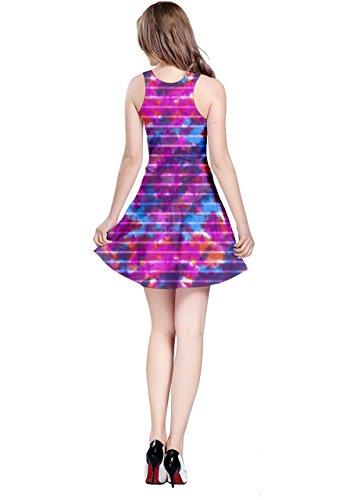 Cowcow para mujer Tie Dye impresión patrón Estilo sin mangas vestido skater, XS-5X L Magenta