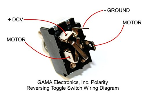 GAMA Electronics 30 Amp Toggle Switch 3 Position Reverse Polarity DC on