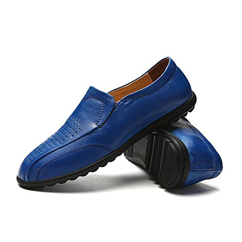Scarpe Casual da Antiscivolo Uomo per Blu Barca Morbida Cricket da Hollow Mocassini Traspiranti Casual Mocassini Pelle in ORXw7