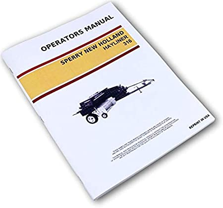 New Holland 270 Baler Hayliner Operator/'s Owners Book Guide Manual CD