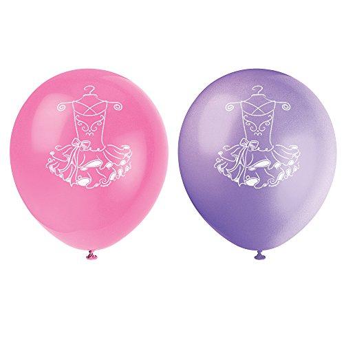 Latex Tutu Ballerina Balloons 8ct