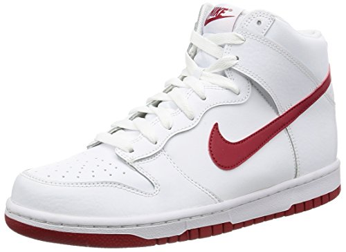 Nike Dunk Hi, Scarpe da Basket Uomo Multicolore (White/Gym Red)