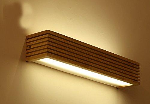 FXING LED Warmweiß Massivholz Wandleuchte Spiegel Scheinwerfer (Größe  55 cm)