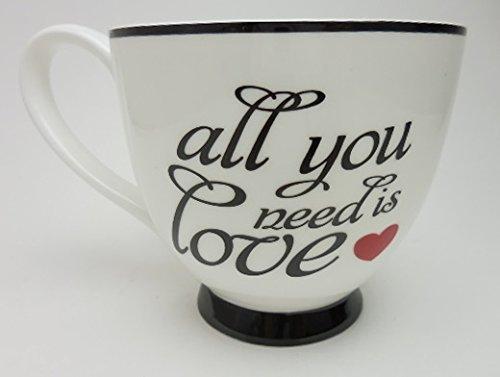 Bone Tip Wing - Portobello All You Need is Love Fine Bone China Large Cup