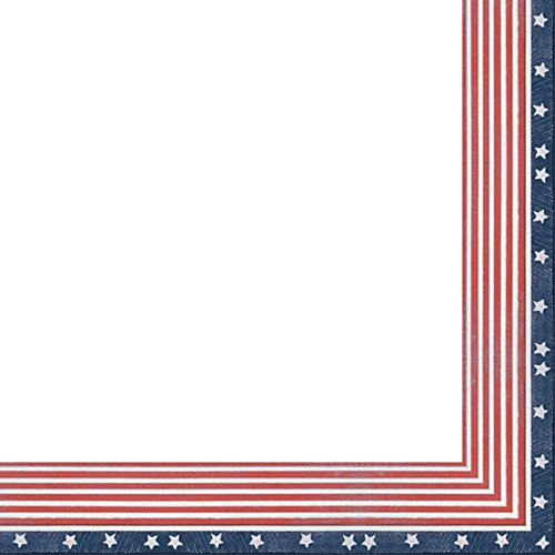 (5x7 American Flag Wood Frame - Great for Posters, Photos, Art Prints, Mirror, Chalk Boards, Cork Boards and Marker)