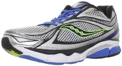 Saucony Men's Progrid Omni 11 Running Shoe,White/Blue/Citron,7 W US