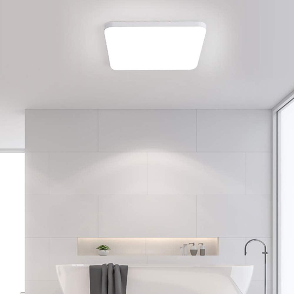 Combuh LED L/ámpara de Techo 30W Impermeable IP56 Blanco Fr/ío 6000K 2400Lm F/ácil de Instalar Plafon LED para Cocina Garaje /Ø25Cm Oficina Porche Ba/ño