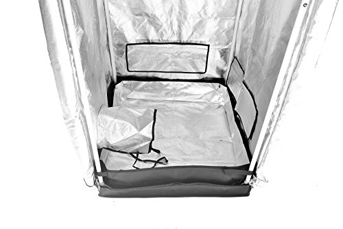 """41WrnE2ce5L - Grow Tent Indoor 2x2 Feet Not Include LED - Small Reflective Mylar Hydroponic/Hydro Waterproof Seedling Plant Growing Room for Grow Tents, Black 24""""x24""""x56"""""""
