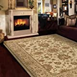 Orian Rugs Kings Landing Bisque Area Rug - STAIN RESISTANT and EXTREMELY DURABLE with 100% Fine Denier Olefin Yarn - Will Not Shrink or Warp and EASY TO CLEAN and Maintain