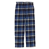 Gioberti Big Boys Brushed Flannel Lounge & Pajama Pants with Elastic Waist, Navy/Royal Blue, Size 12