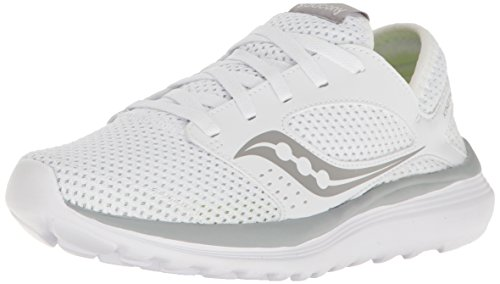 Saucony Women's Kineta Relay Running Shoe, White/Grey, 10 M - White Saucony Shoes