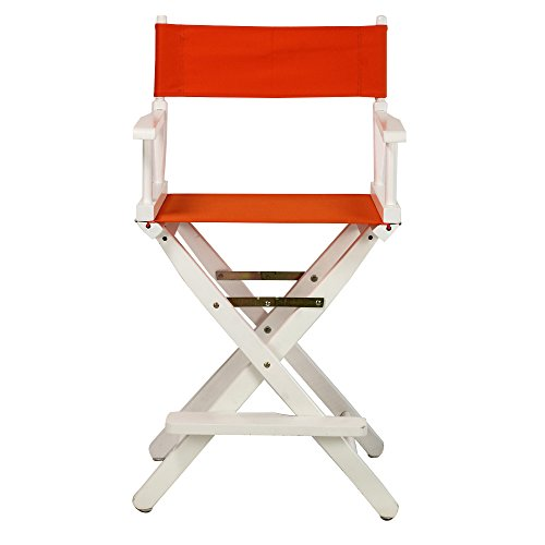 Casual-Home-24-Inch-Director-Chair-White-Frame-Tangerine-Canvas