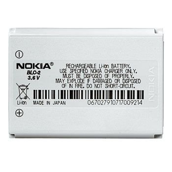 Price comparison product image High Quality Nokia OEM BLC-2 Lithium Ion Standard Battery Uses the latest Lithium Ion battery technology giving you the best performance possible compared to other battery technologies. Original equipment battery manufactured by Nokia. Compatible with Nokia 1221, 1260, 1261, 2260, 3310, 3330, 3360, 3390, 3395, 3410, 3510, 3510i, 3560, 3570, 3585, 3585i, 3586, 3586i, 3587, 3587i, 3588, 3588i, 3589i, 3590, 3595, 6010, 6650, 6800, 6810 Cell Phones
