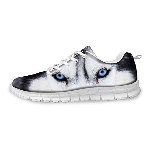 Knuffels Idee 3d Dieren Patroon Herenmode Lichtgewicht Sneakers Husky