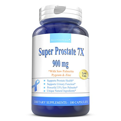 Super Prostate Supplements For Men 100 Pills - Pure Prostate Health Supplements With Saw Palmetto and Beta Sitosterol - The Ideal Prostate Support Supplement by BoostCeuticals
