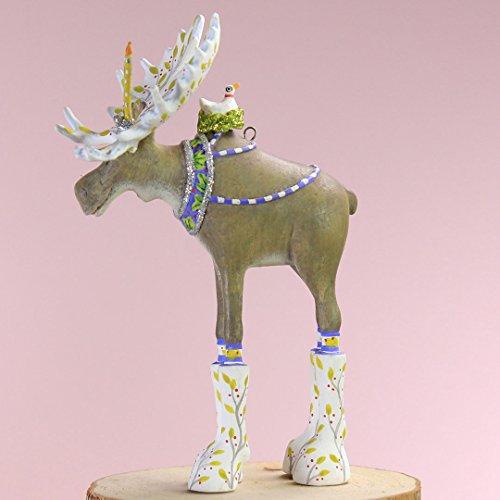 (Patience Brewster Christmas Home Decor Mini Milton Moose Ornament )