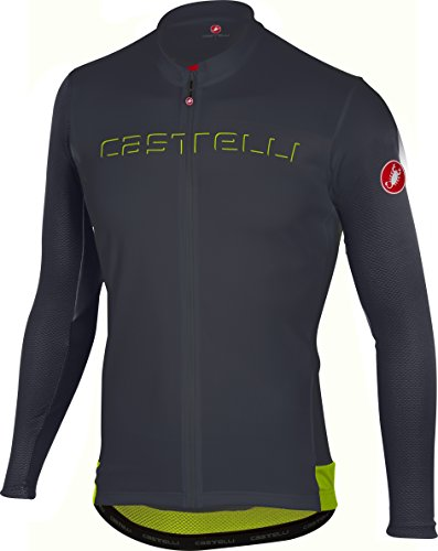 Castelli Prologo V Long-Sleeve Jersey - Men's Anthracite/Yellow Fluo, ()