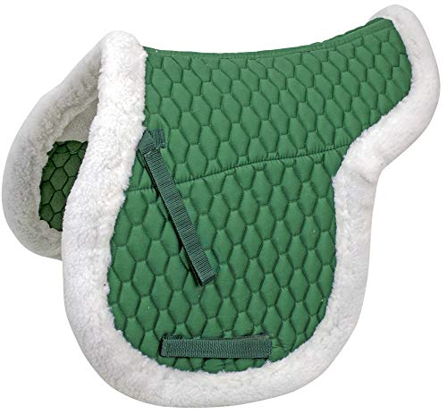 Derby Originals AP Fleece Padded Contour English Saddle Pad, Hunter Green ()