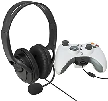 yan/_New Big Headset Headphone with Microphone MIC for Xbox 360 Slim Controller Black