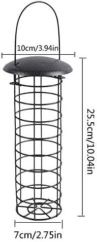 chlius Comedero para P/ájaros Dispensador De Comida para P/ájaros Silvestres Colgantes Estaci/ón de Alimentaci/ón de P/ájaros de Metal Mezclas de Semillas 23x7 Cm