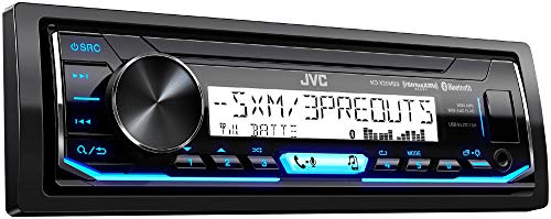 JVC KD-X35MBS Single DIN SiriusXM Bluetooth in-Dash Digital Media Marine Stereo Receiver w/Pandora Control (Best Marine Stereo With Wired Remote)