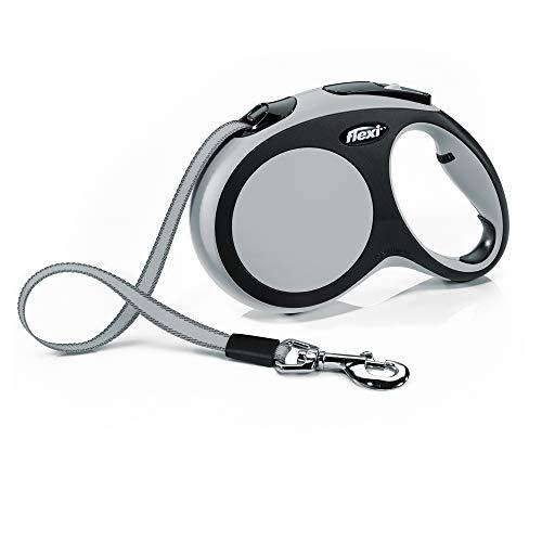 Automatic Leash Flexi New Comfort L Tape 8 M Gray
