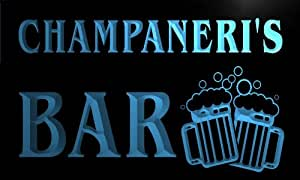 w133251-b CHAMPANERI Name Home Bar Pub Beer Mugs Cheers Neon Light Sign