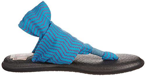 Tongs Sanuk Yoga Sling 2 pour femme - bleu - Ocean/Fuchsia Congo Z8tmcmj,