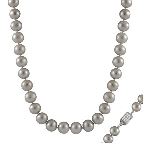 - Handpicked AA Quality Grey 10-11mm Freshwater Cultured Pearl Strand Necklace 18